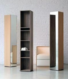 Rotating Storage Ideas | About Face. Rotating cabinet w/ full length mirror on one side and ...