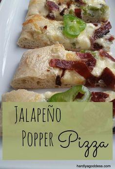 Jalapeño Popper Pizza #SundaySupper | Hardly A Goddess