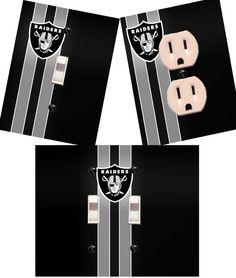 Oakland Raiders Light switch wall plates by HigginsCraftCorner