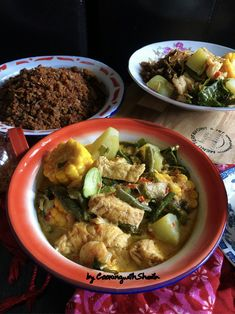 Sayur Lodeh Pedas – Cooking with Sheila Indonesian Recipes, Indonesian Food, Main Menu, Meat, Chicken, Cooking, Kitchen, Indonesian Cuisine, Brewing