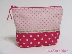 PINK+LADY+Kosmetiktasche+/+Schminktasche+von+Taschen-Atelier+auf+DaWanda.com