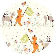 Emily Isabella for Birch Organic Fabrics, Yay Day, Parade