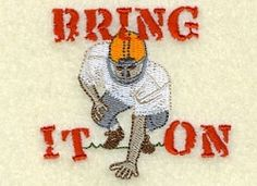 Bring It On Football - 4x4 | Football | Machine Embroidery Designs | SWAKembroidery.com Starbird Stock Designs
