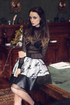 Scorpion Skirt Glam Rock
