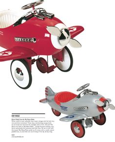 New Vintage / Retro Pedal Cars by MyRetroBaby.Com / Beverly Hills Lifestyle Magazine / Fall 2013