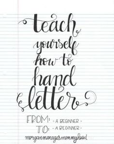 Requiring little more than a pen and paper, hand lettering is accessible to everyone. Read on for how to teach yourself how to hand letter. Hand Lettering For Beginners, Hand Lettering Tutorial, Hand Lettering Fonts, Doodle Lettering, Creative Lettering, Handwriting Fonts, Brush Lettering, Penmanship, Lettering Ideas