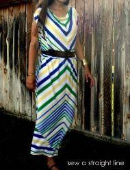 Tutorial: Chevron maxi dress for nusing mamas · Sewing