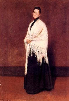 William Merritt Chase - Lady with a White Shawl