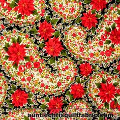 Cotton Quilt Fabric Christmas Poinsettia Large Paisley Black Andover Fabrics - product images of Christmas Poinsettia, Christmas Fabric, Paisley, Andover Fabrics, Missouri Star Quilt, Cotton Quilts, Floral Fabric, Amazing Art, Print Patterns