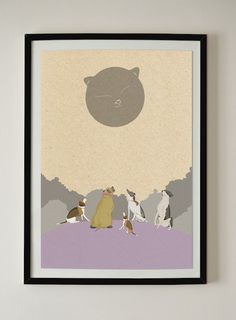 Party Under The Cat Moon / A3 Poster