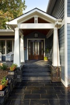 1970\u0027s split level remodel | michael nash design build homes design build firms · Front Door PorchFront ... : door porch - Pezcame.Com