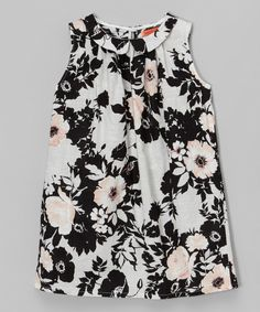 Look what I found on #zulily! Black & Gray Floral Shift Dress - Toddler & Girls by Funkyberry #zulilyfinds