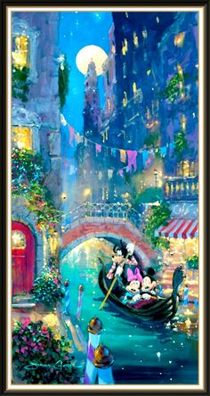 Disney art #Mickey #Minnie #river