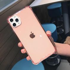 Clear Shockproof iPhone Case - iPhone XS Max / Pink
