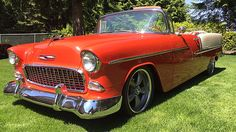1955 Chevrolet Bel Air Convertible 350 CI, Automatic presented as lot S211 at Seattle, WA 2015 - image1