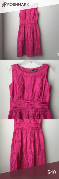 TAHARI by Isabella DeMarco fuchsia pink sundress 6 Isabella DeMarco TAHARI fuchsia pink sundress 6, zips up in the back, sleeveless, below the knee, new without tags! #T350 Tahari Dresses Midi