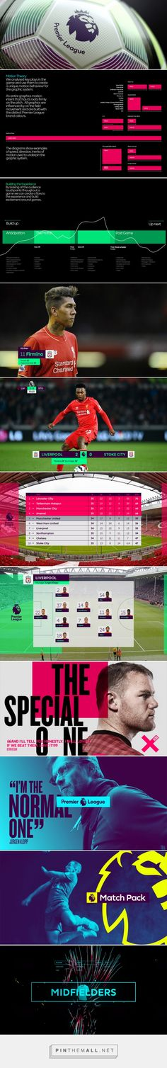 Brand New: New On-air Look for Premier League by DixonBaxi - created on Football Ads, Football Design, Graphic Design Branding, Stationery Design, Channel Branding, Sport Design, Sports Graphics, Supersport, Design System