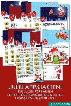 Rolig och underh�llande lek för barnen. Perfekt till klassens julfest eller avslutning vid jul. #julfest #jullekar Grape Vines, Calendar, Holiday Decor, Velvet, Vineyard Vines, Life Planner, Vines