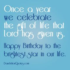 Once a year we celebrate the gift of life