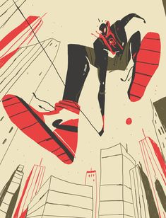 Spiderman New Generation par Rafael Mayani Art And Illustration, Illustrations And Posters, Character Illustration, Graphic Design Illustration, Arte Pop, Spiderman, Art Reference, Comic Art, Character Art