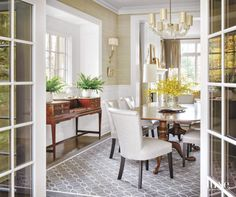Dining Room with Antique English Furnishings