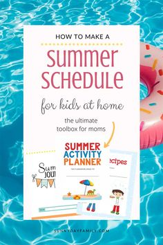 Staying home this summer? Save your sanity by making a summer schedule your kids can handle! The ultimate toolbox for summer planning, summer activities at home, screen time rules, chore charts and more. Summer Schedule, Kids Schedule, Summer Activities For Kids, Summer Kids, Getting Things Done, Cool Things To Make, Chore Checklist, Age Appropriate Chores
