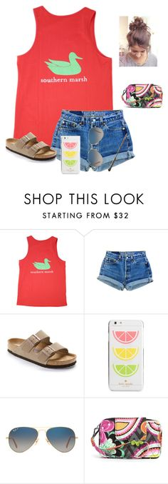 """""""Day 4: Wizard quest(free day)"""" by raquate1232 ❤ liked on Polyvore featuring Levi's, Birkenstock, Kate Spade, Ray-Ban, Vera Bradley and emilyswdvacation"""