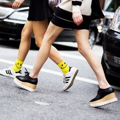 Stella McCartney and Adidas // #NYFW #Shoes #Casual