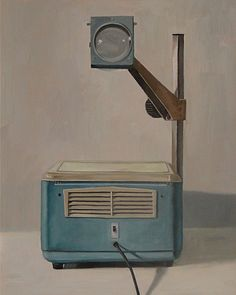 overhead projector.  My kids wouldn't have a clue what this is.