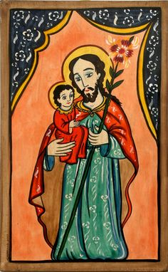 San Jose Retablo - Charlie Carrillo - New Mexico History Museum/Palace of the Governors - Stunning Art Work by New Mexico Artists