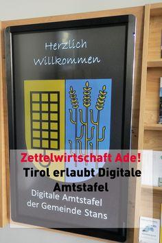 Die Digitale Amtstafel ist ab 2020 auch in Tirol rechtskonform. Zum Glück gibt's bereits jetzt den Gem2Go Kiosk! Kiosk, Calm, Cover, Blog, Communities Unit, Economics, Blogging