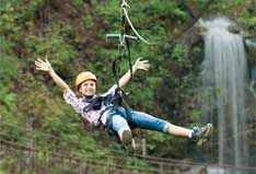 Zip line. Experience the Goliath.
