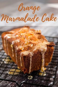 A quick and easy orange marmalade loaf cake that s packed with traditional Seville orange marmalade for a perfectly British treat at any time Healthy Cake Recipes, Best Cake Recipes, Sweet Recipes, Baking Recipes, Dessert Recipes, Drink Recipes, British Desserts, Loaf Cake, Sweet Bread