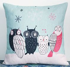 Caryko Home Decor Cotton Linen Square Pillow Case Cushion Cover Cute Owls (Owl-Pattern 5) Caryko http://www.amazon.com/dp/B00ZPFSOY4/ref=cm_sw_r_pi_dp_L7UFvb0ZGVCQ1