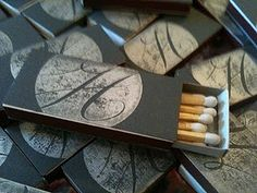 custom stamped matchboxes