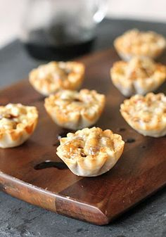 The Galley Gourmet: Mini fig and blue cheese tarts