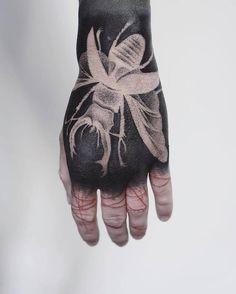 Winged beetle tattoo, Coleoptera