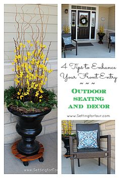 Great curb appeal porch ideas!!!