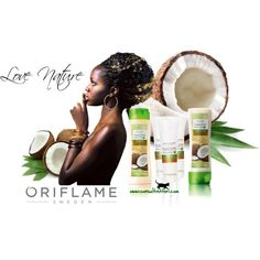 """""""Hair care with Wheat & Coconut By Oriflame"""" by consultantori on Polyvore"""