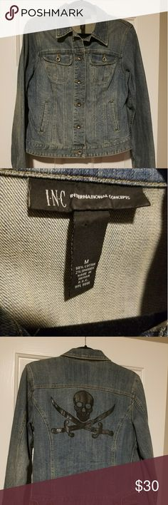 INC Jean Jacket INTERNATIONAL Concepts Jean Jacket INC International Concepts Jackets & Coats Jean Jackets