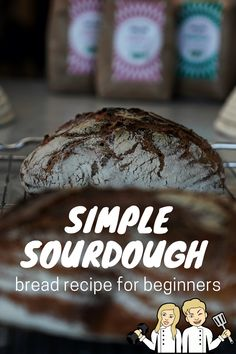 The world's easiest sourdough bread for beginners! This is the first sourdough bread I made, and it turned out awesome, you can do the same! Beginners Bread Recipe, Sourdough Bread, Fermented Foods, Bread Recipes, Super Easy, Healthy Lifestyle, Easy Meals, Low Carb, Healthy Eating