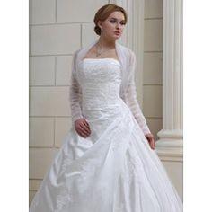 Long Sleeve Tulle Wedding Wrap