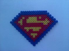 Perler Bead: Superman - very important, this one.