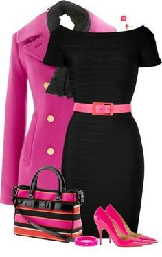 Love the pink and black.