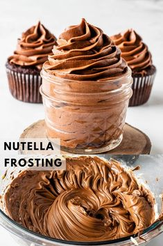 Cake Filling Recipes, Easy Cake Recipes, Best Dessert Recipes, Fun Desserts, Baking Recipes, Delicious Desserts, Nutella Frosting, Chocolate Frosting Recipes, Nutella Cake