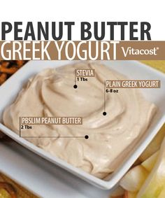 Trim With PBSLIM: Peanut Butter Greek Yogurt Recipe. A great base yogurt Chobani! Greek Yogurt And Peanut Butter, Greek Yogurt Dips, Greek Yogurt Recipes, Pb2 Recipes, Snack Recipes, Cooking Recipes, Healthy Bedtime Snacks, Healthy Treats, Kids Yogurt