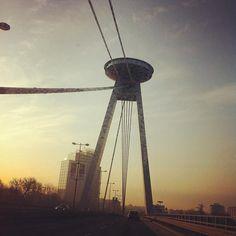 Bridge of Slovak National Uprising, Bratislava; by Peter Sedlacik