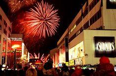 Año Nuevo en Finlandia. Fuegos artificiales en Jyväskylä. Fotografía de: Skorpion87
