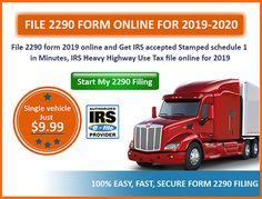 2290 form 2019-2020  7 Best form 7 7 images