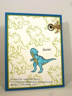 Birthday Roar by mandypandy - Cards and Paper Crafts at Splitcoaststampers